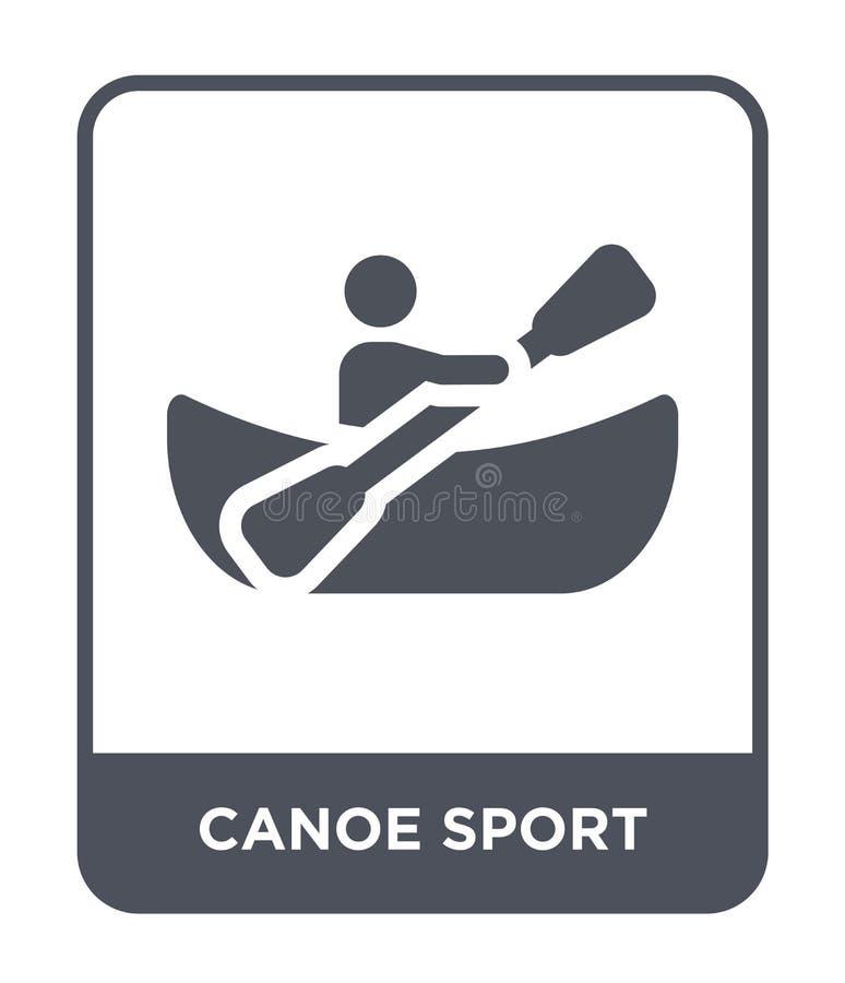 значок спорта каноэ в ультрамодном стиле дизайна значок спорта каноэ изолированный на белой предпосылке значок вектора спорта кан иллюстрация штока