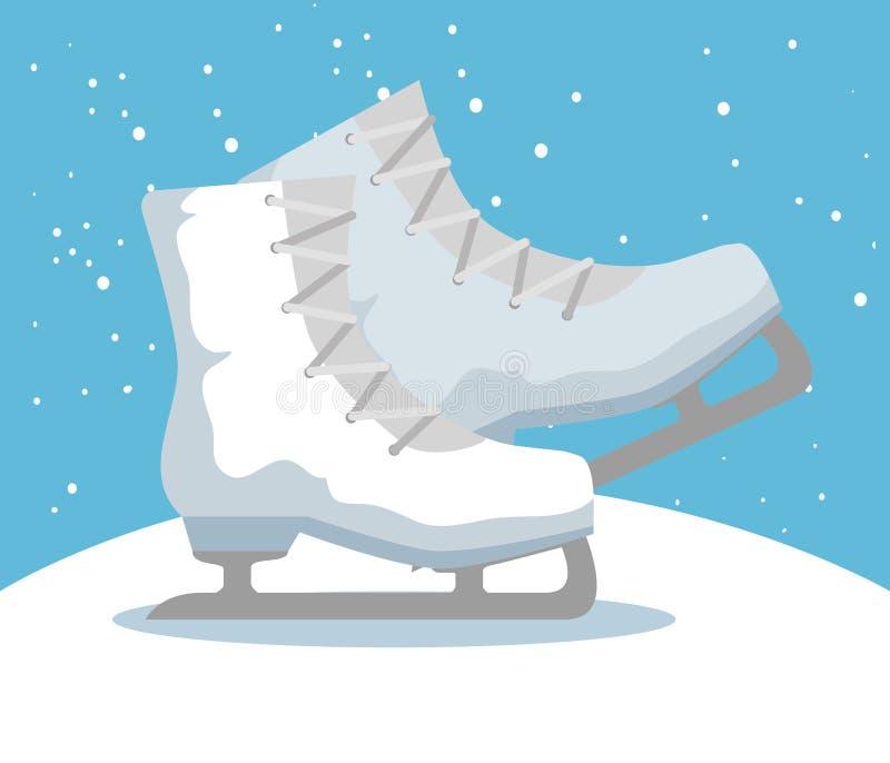 Значок спорта коньков льда бесплатная иллюстрация
