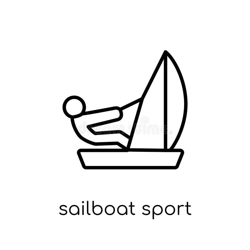 Значок спорта парусника Ультрамодный современный плоский линейный парусник s вектора иллюстрация штока