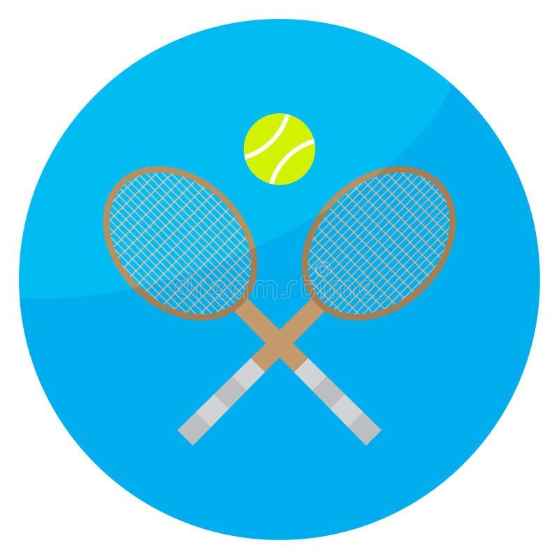 Значок спорта тенниса иллюстрация вектора