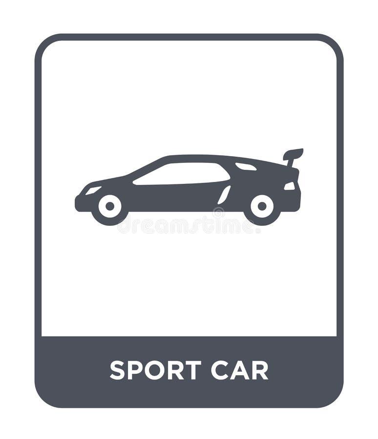 значок спортивной машины в ультрамодном стиле дизайна значок спортивной машины изолированный на белой предпосылке квартира значка иллюстрация штока
