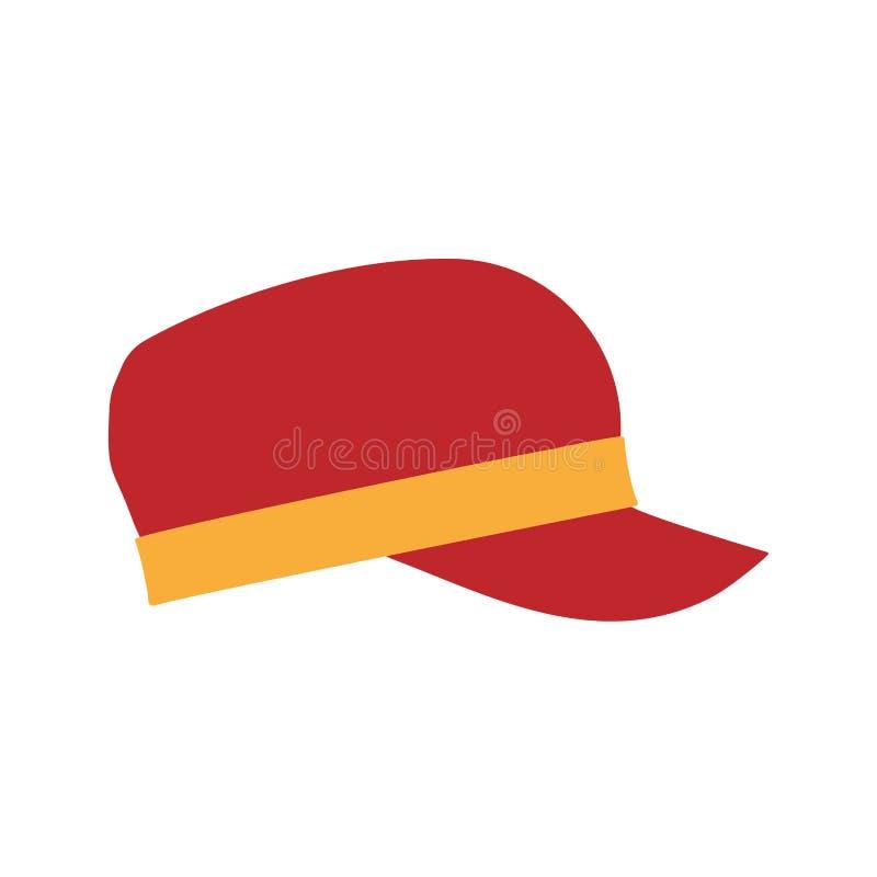 Значок спорт взгляда со стороны одежд щелчковой задней шляпы современный Классической образ жизни вектора ткани изолированный кры иллюстрация вектора