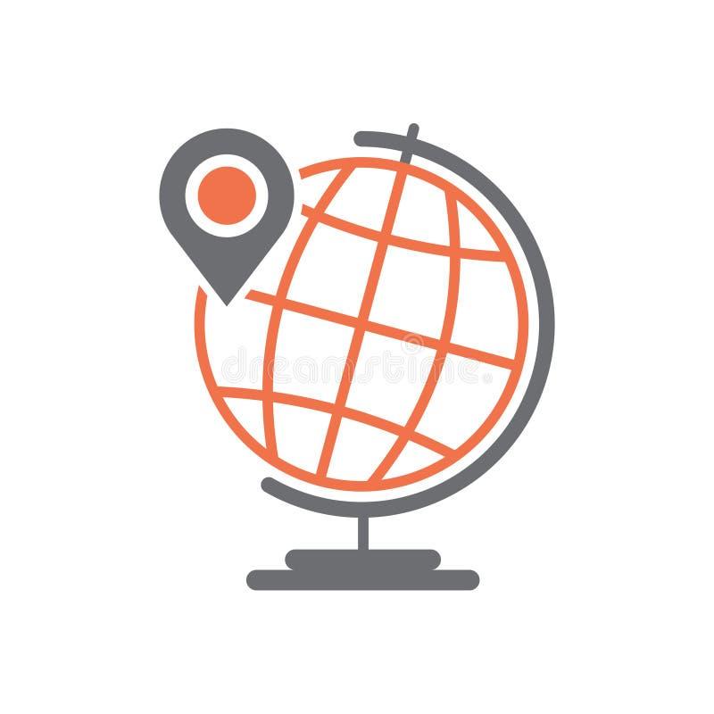 Значок спутниковой навигационной системы навигации на белой предпосылке для графика и веб-дизайна, современного простого знака ве бесплатная иллюстрация