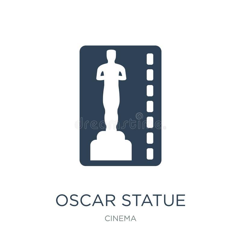значок статуи Оскара в ультрамодном стиле дизайна значок статуи Оскара изолированный на белой предпосылке значок вектора статуи О иллюстрация вектора