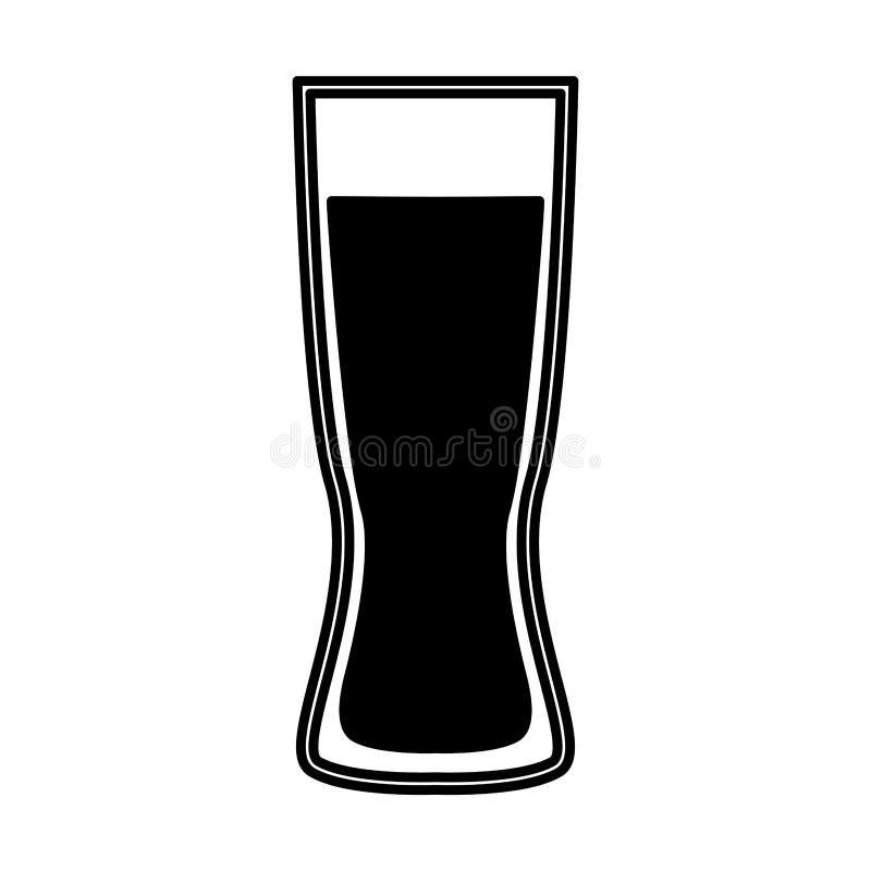значок стекла пива изолированный бесплатная иллюстрация