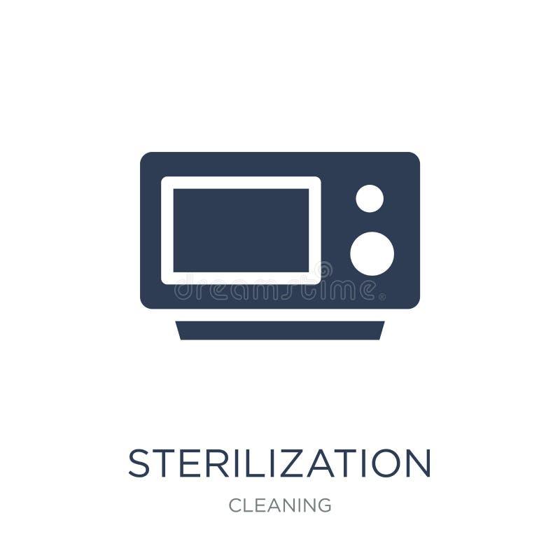 значок стерилизации Ультрамодный плоский значок стерилизации вектора на whi бесплатная иллюстрация