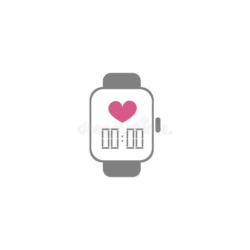 Значок стиля вектора плоский - умный дозор - для логотипа, значка, плаката, знамени, здорового образа жизни, современного устройс иллюстрация штока