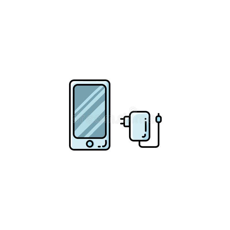 Значок стиля обязанности телефона смартфона плоским изолированный вектором бесплатная иллюстрация