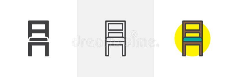 Значок стиля стула различный иллюстрация вектора
