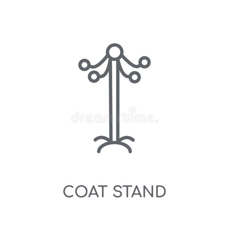 Значок стойки пальто линейный Современная концепция o логотипа стойки пальто плана иллюстрация вектора