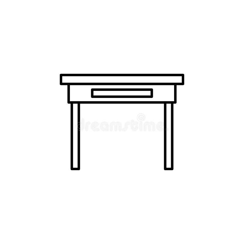 Значок стола Элемент значка сети для передвижных apps концепции и сети иллюстрация штока