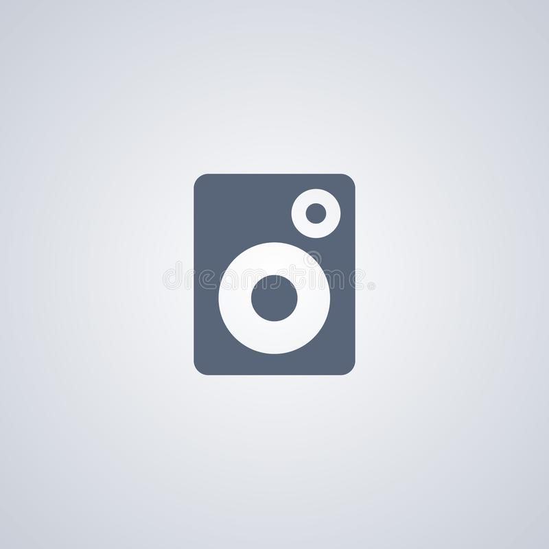 Значок столбца музыки, тональнозвуковой значок дикторов бесплатная иллюстрация