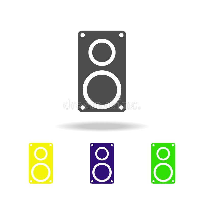 значок столбца музыки multicolor Элемент значков сети Знаки и значок для вебсайтов, веб-дизайн символов, мобильное приложение на  иллюстрация вектора