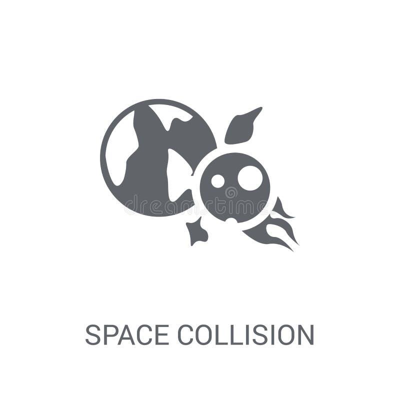 Значок столкновения космоса  бесплатная иллюстрация