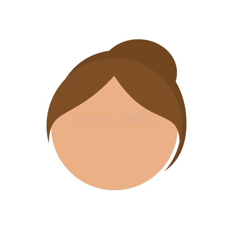 Download Значок стороны девушки иллюстрация вектора. иллюстрации насчитывающей adulteration - 81801025