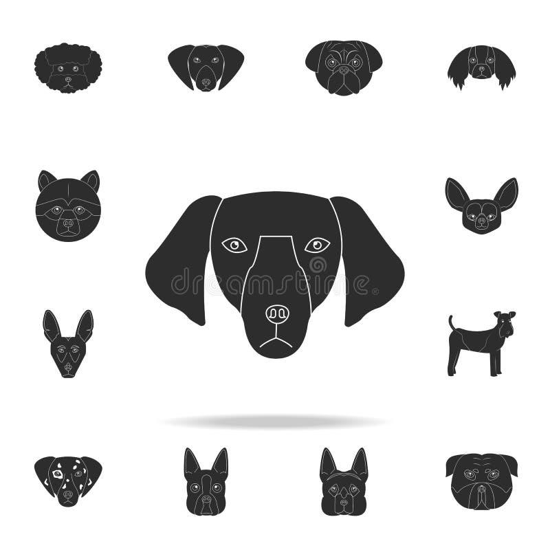 Значок стороны таксы Детальный набор значков силуэта собаки Наградной графический дизайн Один из значков собрания для вебсайтов,  иллюстрация штока