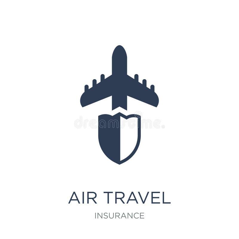 Значок страхования воздушного путешествия Ультрамодное плоское insuran воздушного путешествия вектора иллюстрация вектора