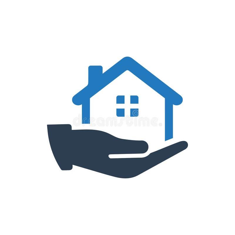 Значок страхования жилья иллюстрация вектора