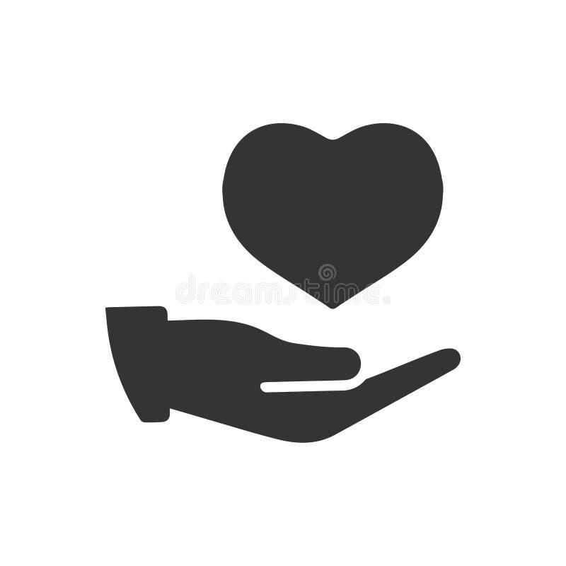 Значок страхования сердца иллюстрация вектора