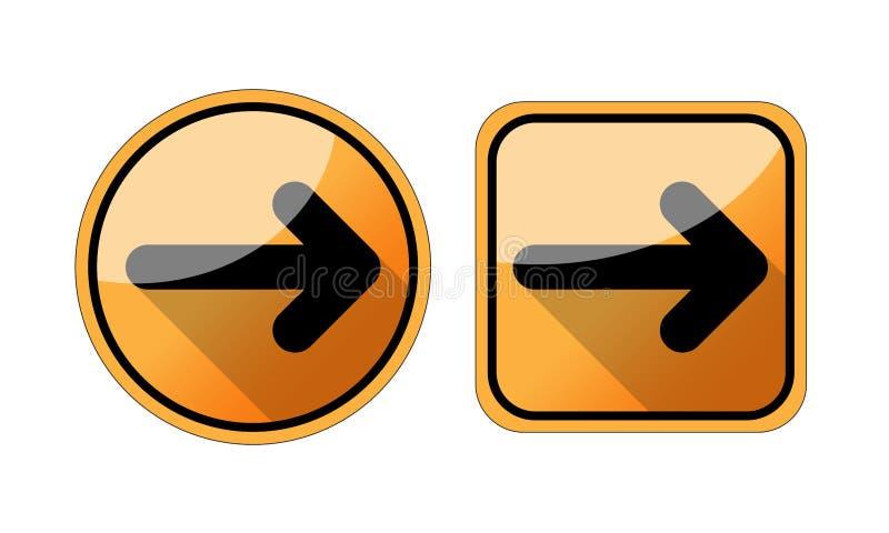Значок стрелки в ультрамодном плоском стиле изолированный на белой предпосылке Символ для вашего дизайна вебсайта, логотип стрелк бесплатная иллюстрация