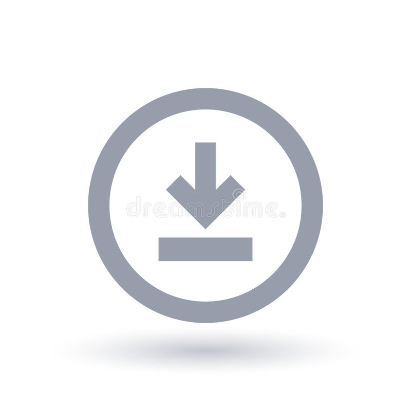 значок стрелки загрузки Символ загрузки иллюстрация вектора