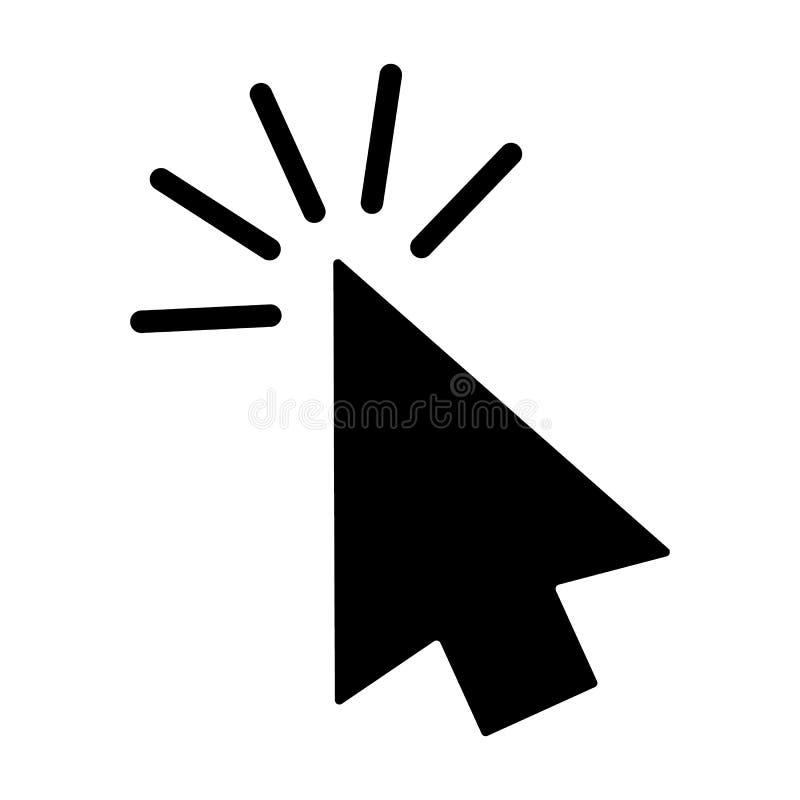 Значок стрелки курсора щелчка мыши компьютера серый r иллюстрация вектора