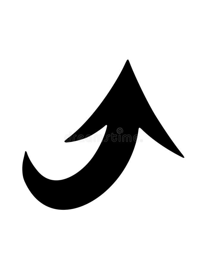 Значок стрелки матовой черноты бесплатная иллюстрация