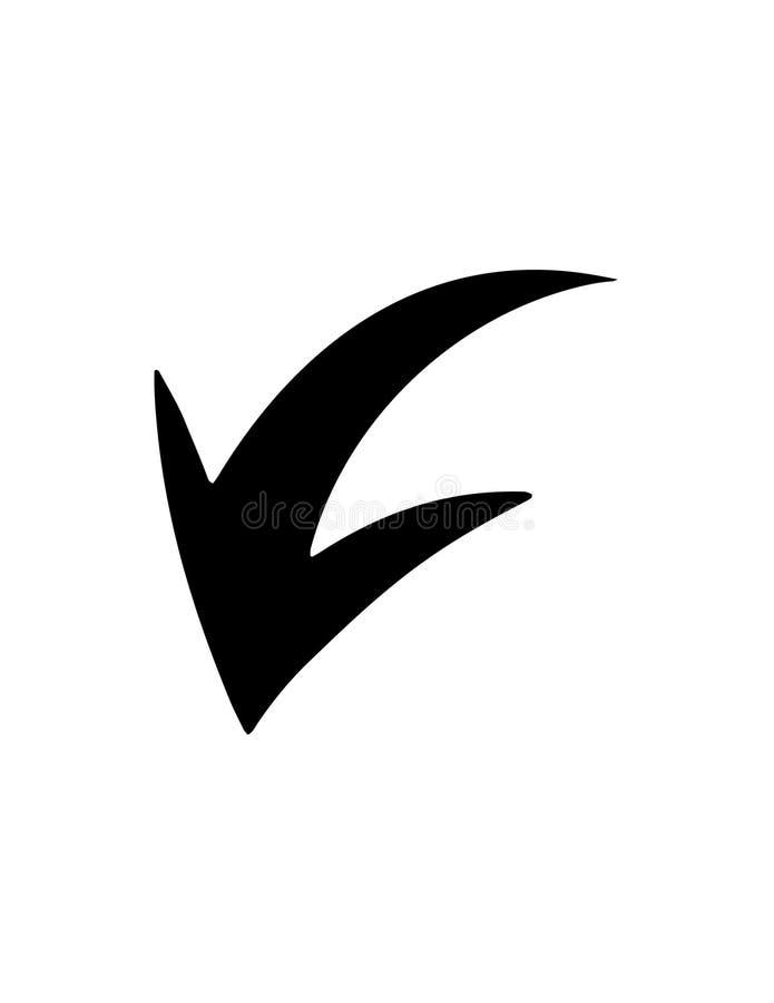Значок стрелки матовой черноты иллюстрация вектора