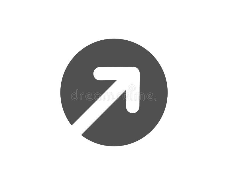 Значок стрелки направления простой arv иллюстрация вектора