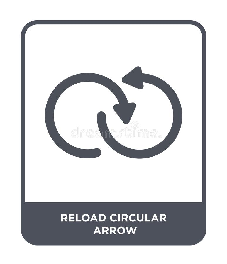 значок стрелки перезарядки круговой в ультрамодном стиле дизайна значок стрелки перезарядки круговой изолированный на белой предп бесплатная иллюстрация