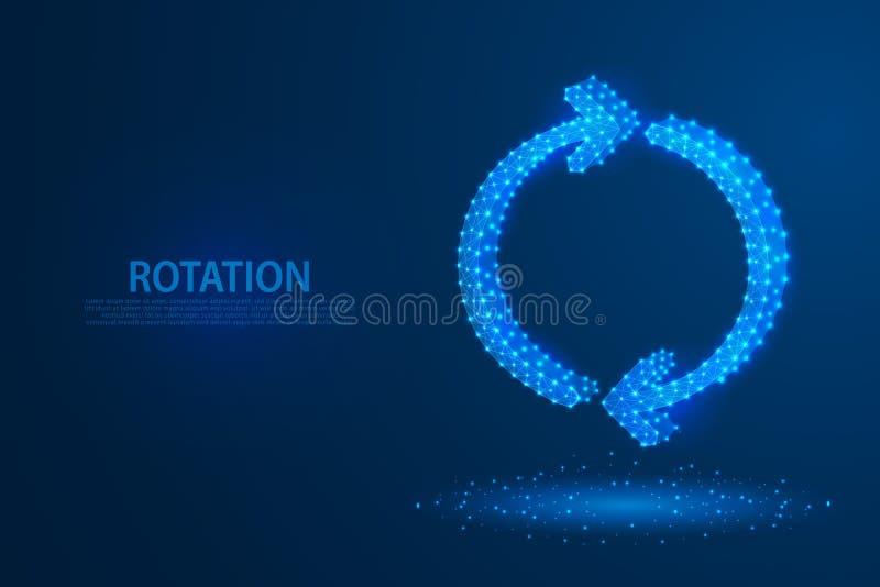 Значок стрелок вращения технологии с голубой предпосылкой, a поворачи бесплатная иллюстрация