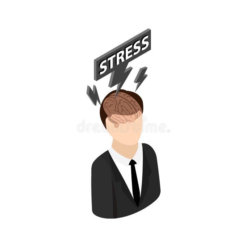 Значок стресса, равновеликий стиль 3d бесплатная иллюстрация