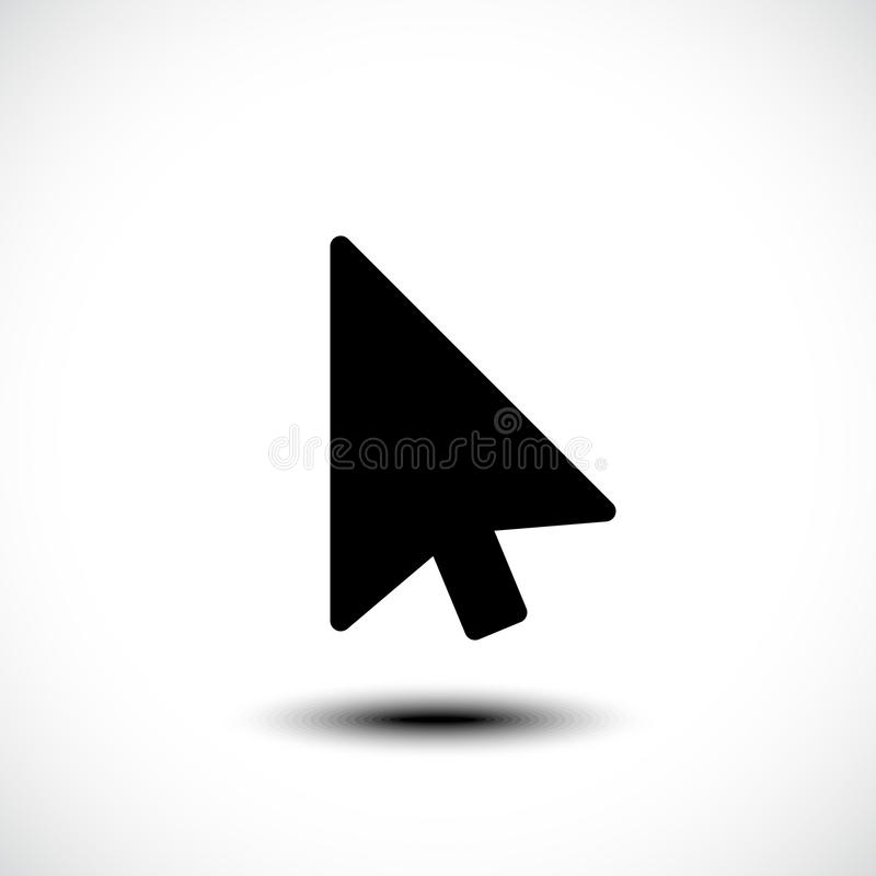 Значок стрелки курсора указателя щелчка мыши компьютера плоский иллюстрация вектора