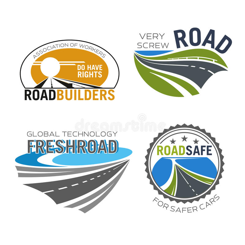 Значок строительства дорог, строения и ремонтных услуг иллюстрация штока