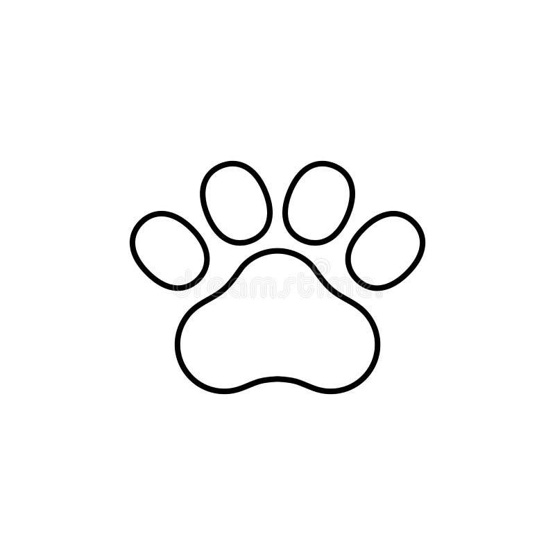 Значок строки 'Paw Print' Иллюстрация вектора бесплатная иллюстрация