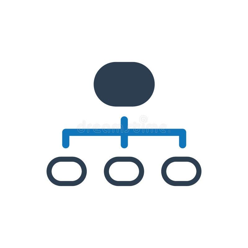 Значок структуры иерархии иллюстрация вектора