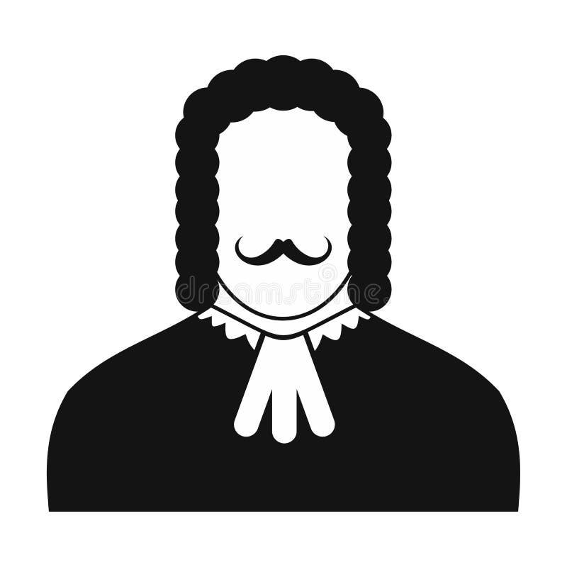 Значок судьи черный иллюстрация штока