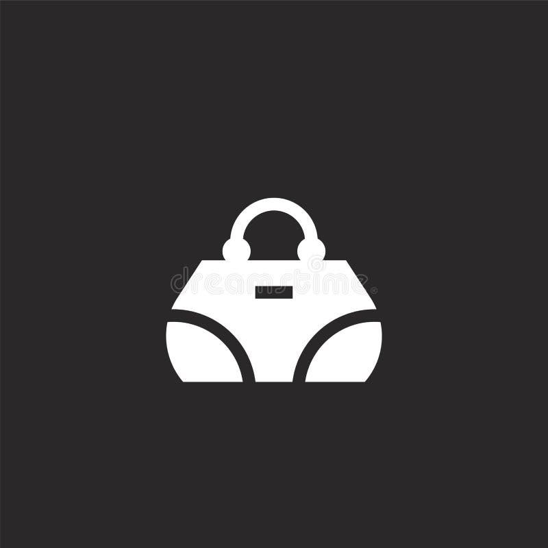 значок сумки. Заполненный значок сумки для проектирования веб-сайта и Ñ иллюстрация вектора