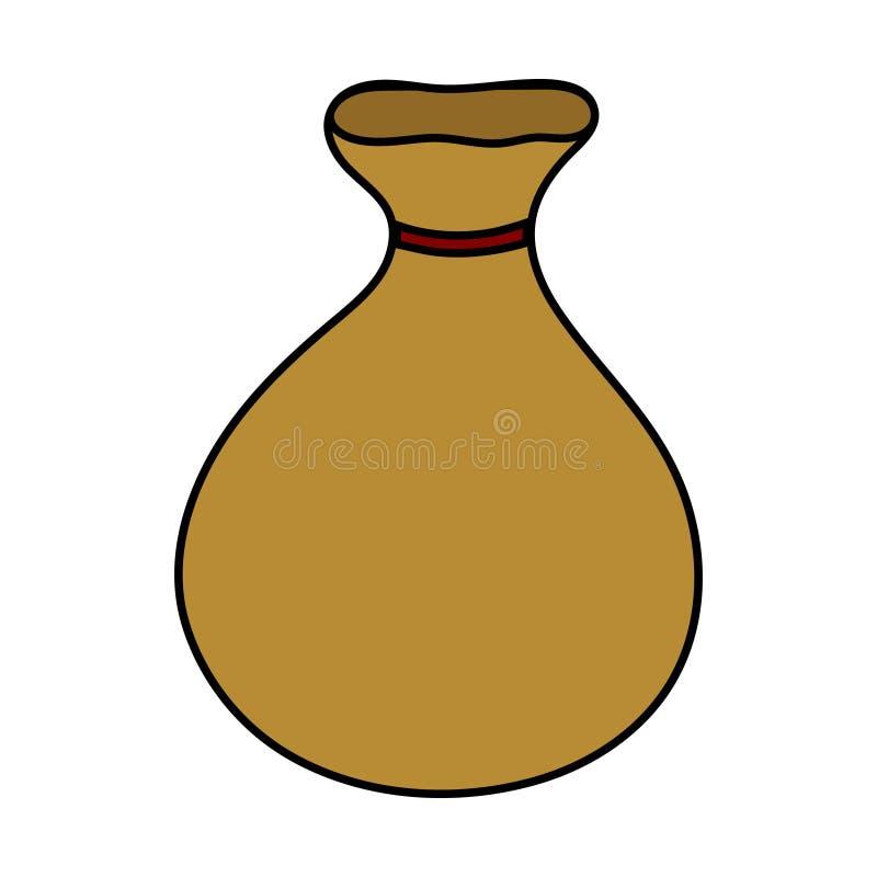 Значок сумки изолированный на белой предпосылке Moneybag мультфильма простой Иллюстрация для вашего дизайна, игра вектора, карта, бесплатная иллюстрация