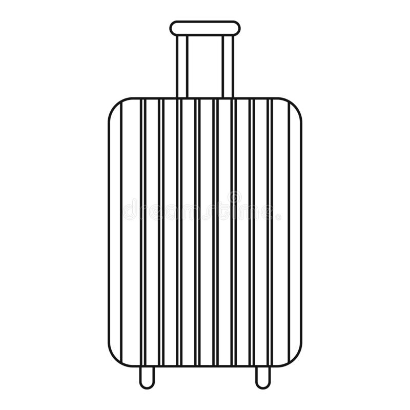 Значок сумки перемещения, стиль плана бесплатная иллюстрация