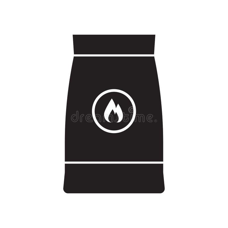 Значок сумки угля барбекю иллюстрация вектора