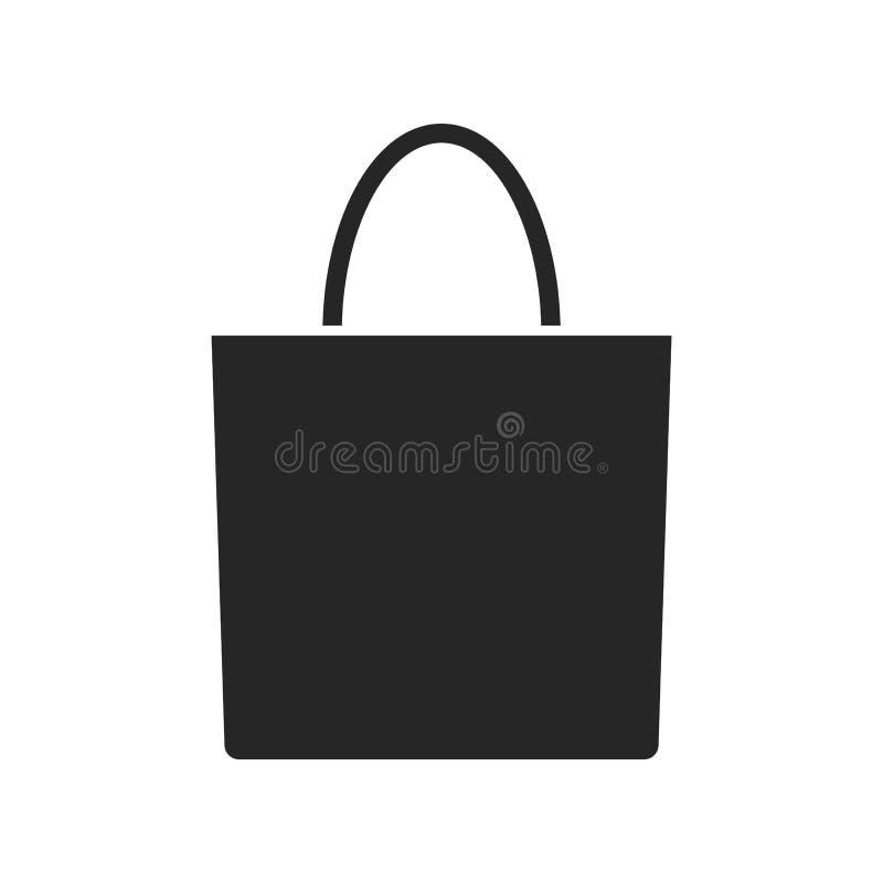 Значок сумки Eco на белой предпосылке, для любого случая иллюстрация вектора