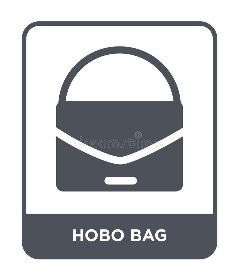 значок сумки hobo в ультрамодном стиле дизайна значок сумки hobo изолированный на белой предпосылке квартира значка вектора сумки иллюстрация штока