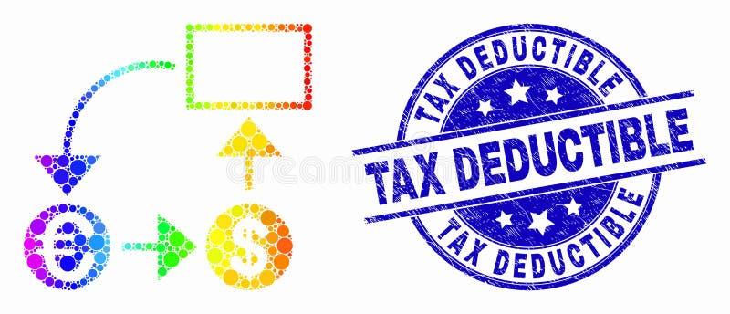 Значок схемы конверсии валюты точки спектра вектора и уплотнение франшизы налога дистресса бесплатная иллюстрация