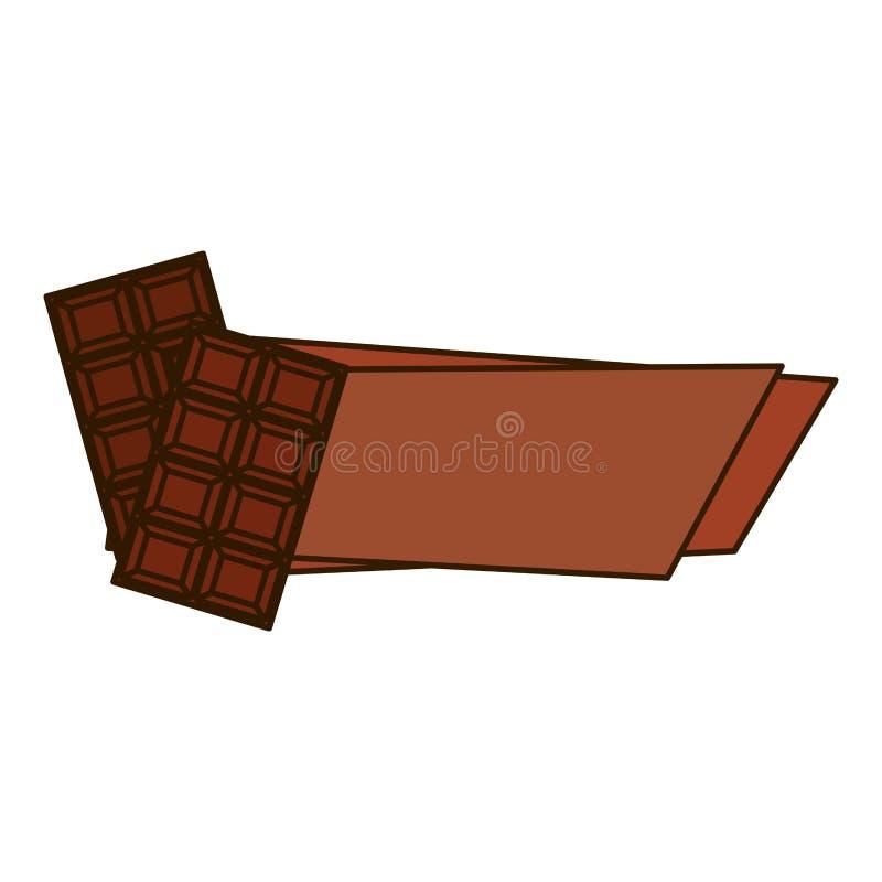 Download Значок сладостного шоколада Иллюстрация вектора - иллюстрации насчитывающей калория, кондитерская: 81802636
