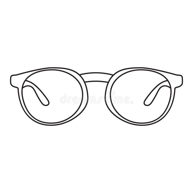 Значок с изображением рамки для стекел Простой чертеж без лить также вектор иллюстрации притяжки corel бесплатная иллюстрация