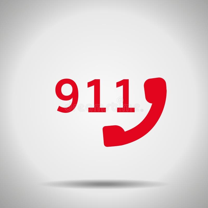 значок 911 с тенью бесплатная иллюстрация