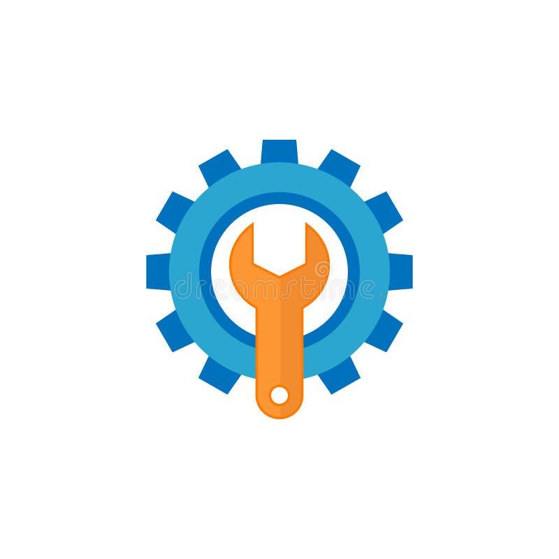 Значок службы технической поддержки плоский иллюстрация штока