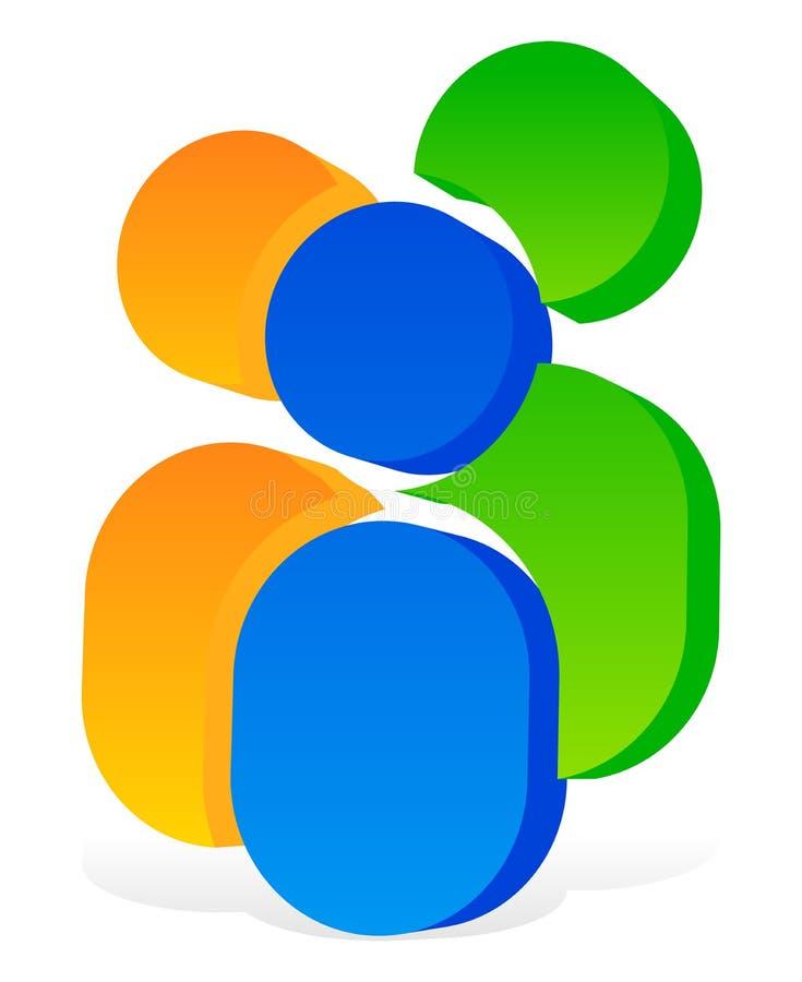 Download Значок с 3 человеческими пиктограммами - красочный значок 3d для партнерства Иллюстрация вектора - иллюстрации насчитывающей свободно, mates: 81815138