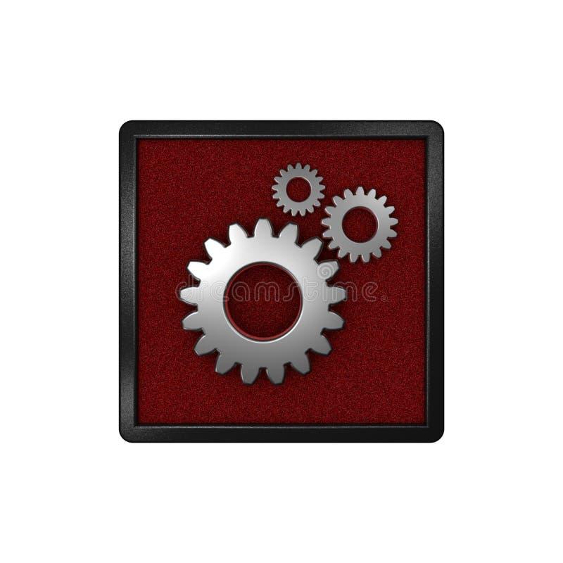Значок с шестернями & x22; Установки, Options& x22; Графическая иллюстрация перевод 3d иллюстрация штока